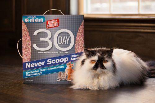 Enter below to win a 15-lb box of Simple Solution Cat Litter!