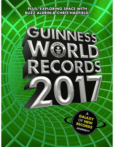 This record and thousands of others appear in the new Guinness World Records 2017 Edition.