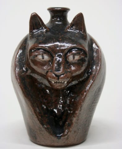 Patrick Eddington Earthenware Cat Jug. Estimated value: $100-$200