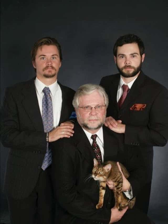 Three Men and a Tabby